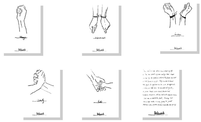 About artist clocktower art gallery a collection of five charming line drawing tracings and one handwritten motivation by nelson mandela ccuart Choice Image